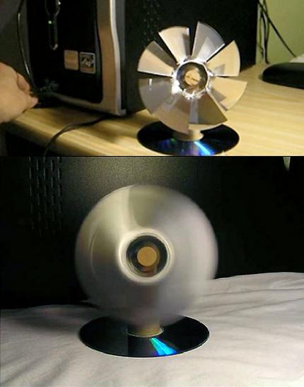 Вентилятор из CD дисков