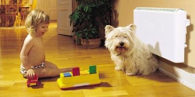 Конвектор Нобо и ребенок с собакой