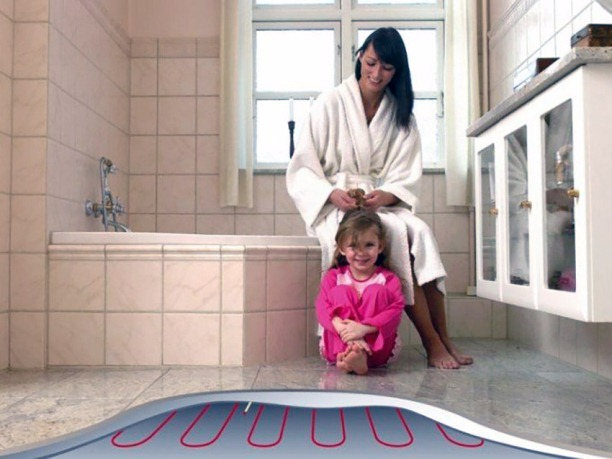 Подогрев пола в ванной