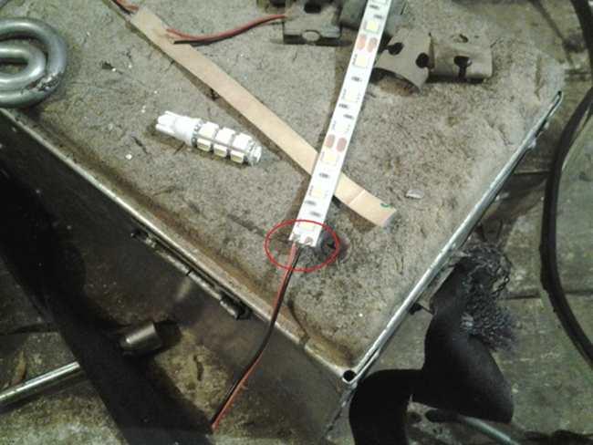 Установка лед ленты в фару уаз патриот - шаг 7