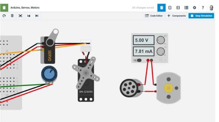 Виртуальная среда разработки 123D Circuits