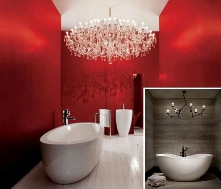 Люстра в ванной