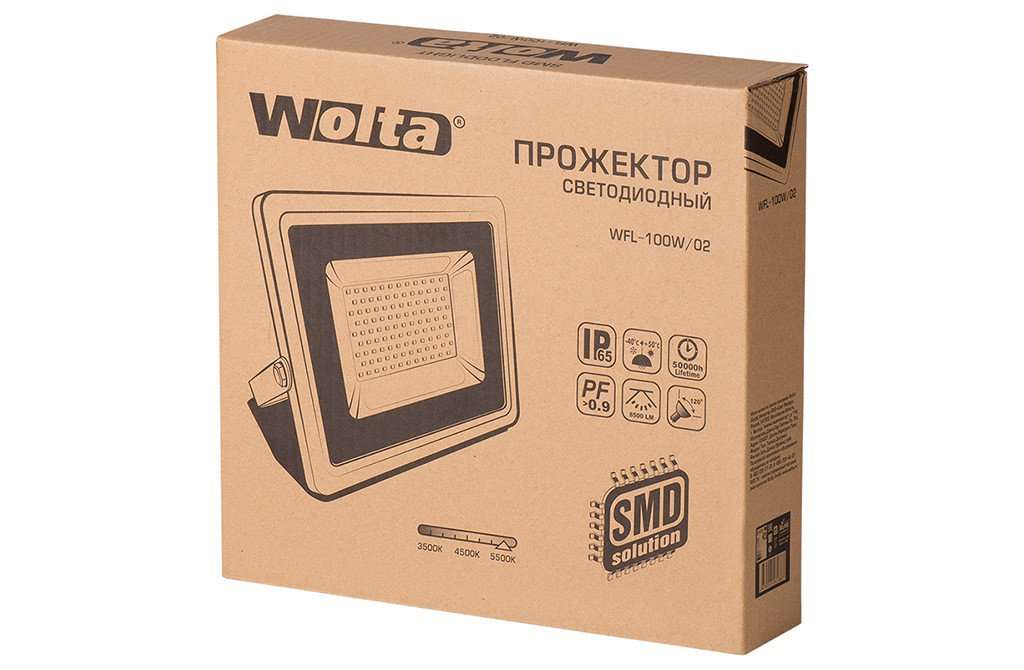 Упаковка прожектора серии WFL02