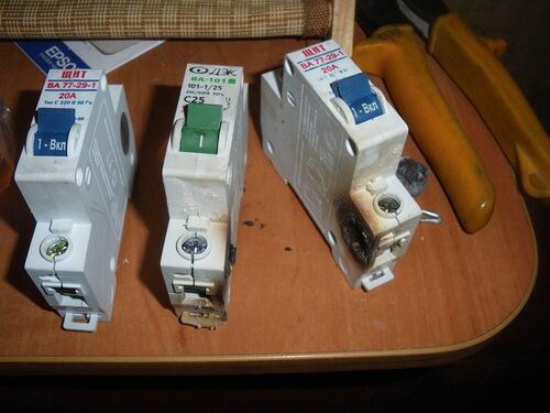 Износ электрических автоматов