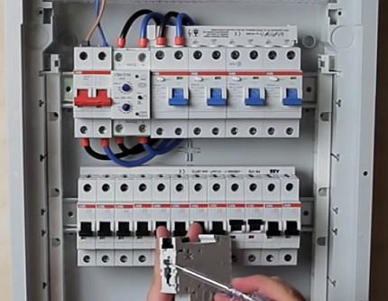 Комплекс УЗО и выключателей