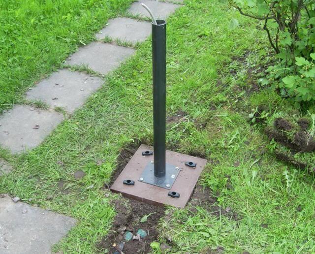 Альтернативный метод крепления уличного фонаря