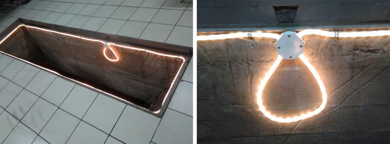 Освещение смотровой ямы светодиодной лентой