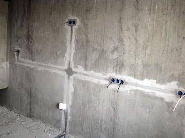 Прокладка проводов в бетоне