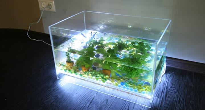 подсветка светодиодной лентой аквариума