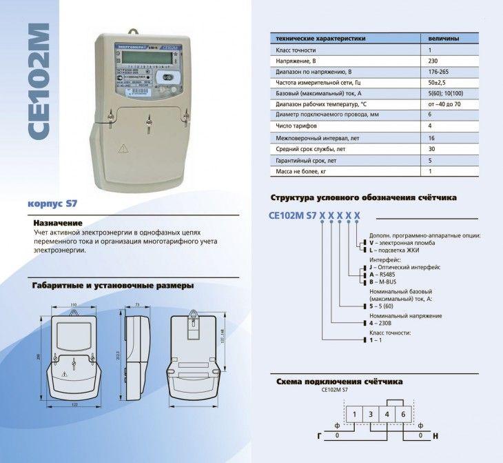 Электросчетчик CE102M
