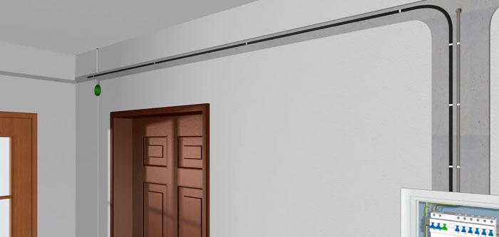 прокладка кабеля на диммер