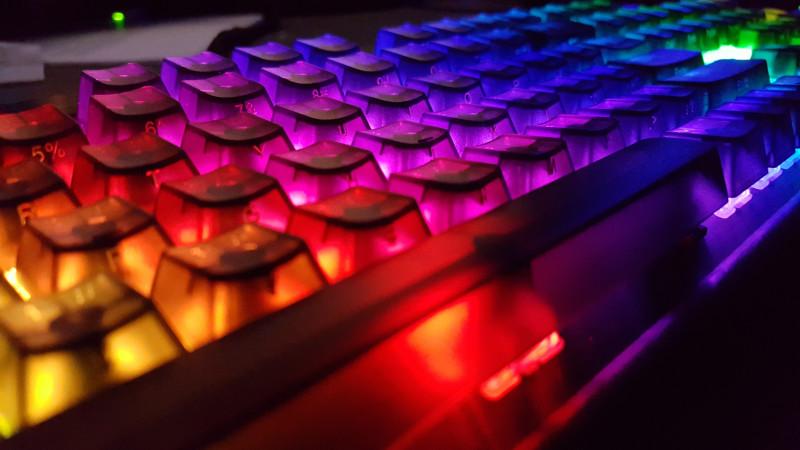 Прозрачные кнопки для цветной клавиатуры